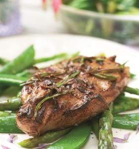 Sizzling Valentine Steaks in a Lavender and Balsamic Marinade