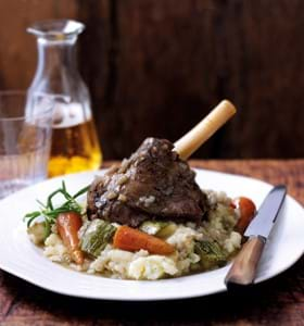 Slow Cooked Lamb Shanks with Pearl Barley (Slow Cooker Version)