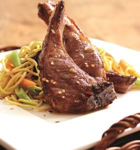 Spiced Honey Lamb Chops