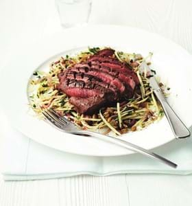 Spiced Lamb with Spiralised Parsnip and Freekeh Salad