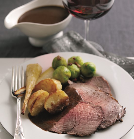 Spiced Rib of Beef with Red Wine Gravy