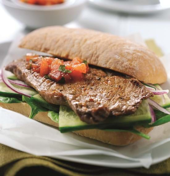 Steak Sandwich with Fiery Relish