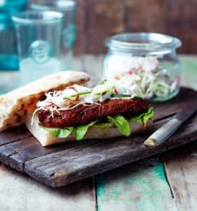 Steak Sandwich with Pickled Vegetables
