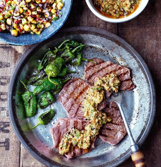 Steaks with Chipotle Pesto