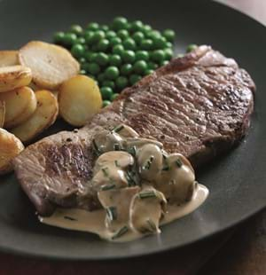 Steaks with Madeira and Mushroom Sauce