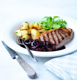 Steaks with Red Wine Sauce
