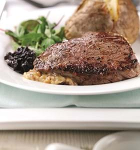 Stilton Stuffed Rump Steak