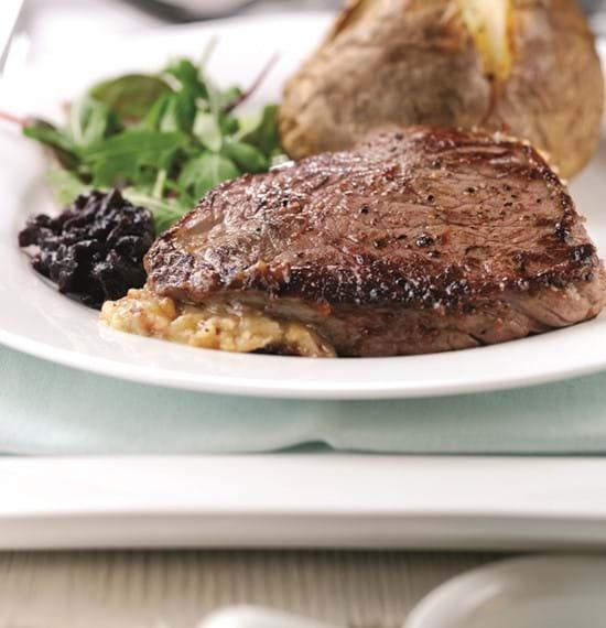 Stilton Stuffed Rump Steak