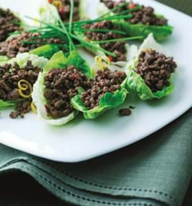 Tangy Beef and Lettuce Wraps