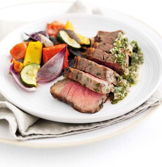 Tri Tip Steaks in a Chimichurri Marinade