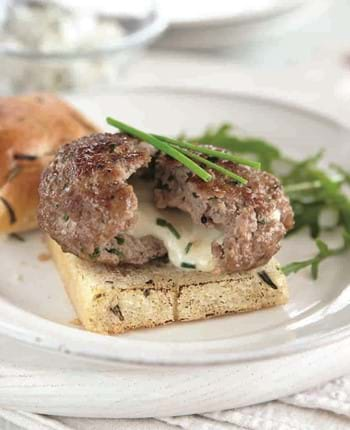 Veal Burgers with Mozzarella