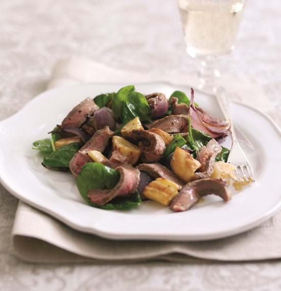 Warm Beef and Winter Vegetable Salad with Honey and Mustard Dressing