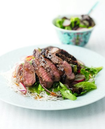 Warm Lamb and Noodle Salad