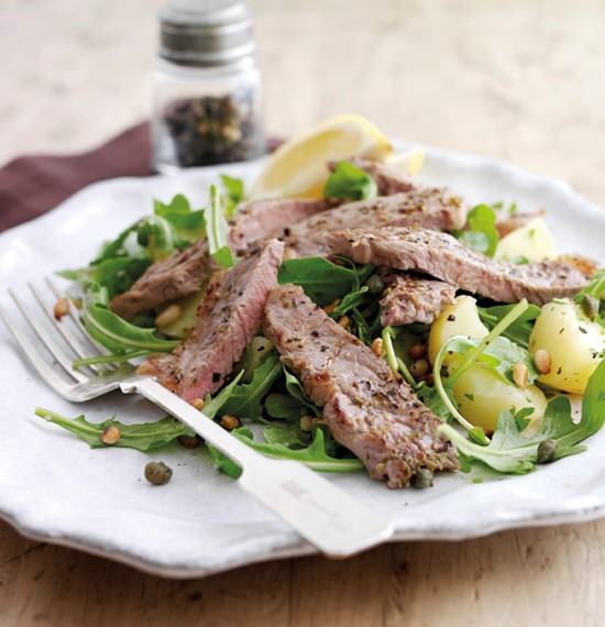 Zingy Steaks with Warm Potato Salad