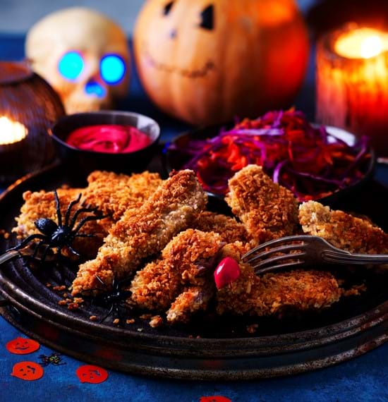 Lamb Fingers with a Ghoulish Dip