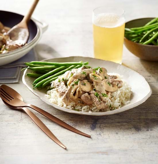 Quick Thin Cut Beef Stroganoff