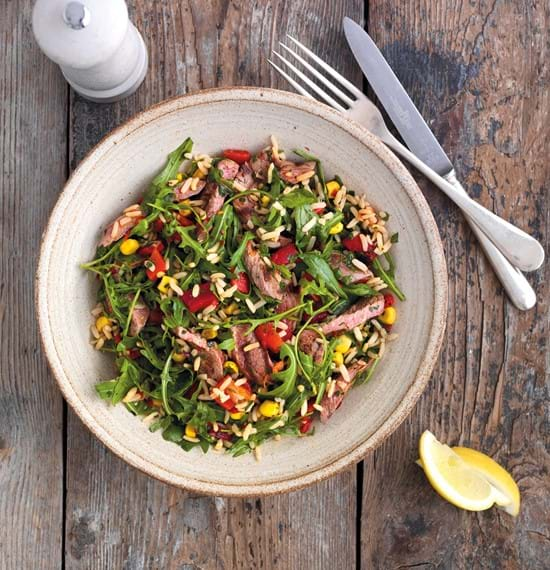 Harissa Lamb and Rice Salad