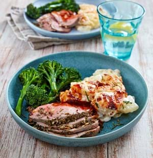 Lamb Mini Roast with Garlic and Rosemary