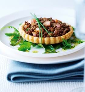 Beef and Rhubarb Tarts