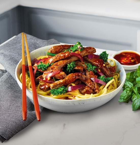 Beef with broccolli stir-fry
