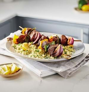 Beef Kebabs with Couscous