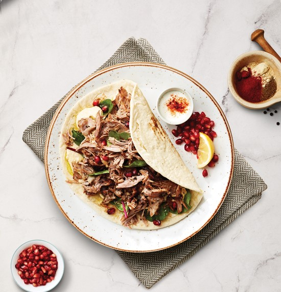 Pulled Lamb Wrap